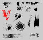 Grunge konturlar ve bindirme vektör set — Stok Vektör