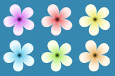 Flower Vector Background — Vettoriale Stock
