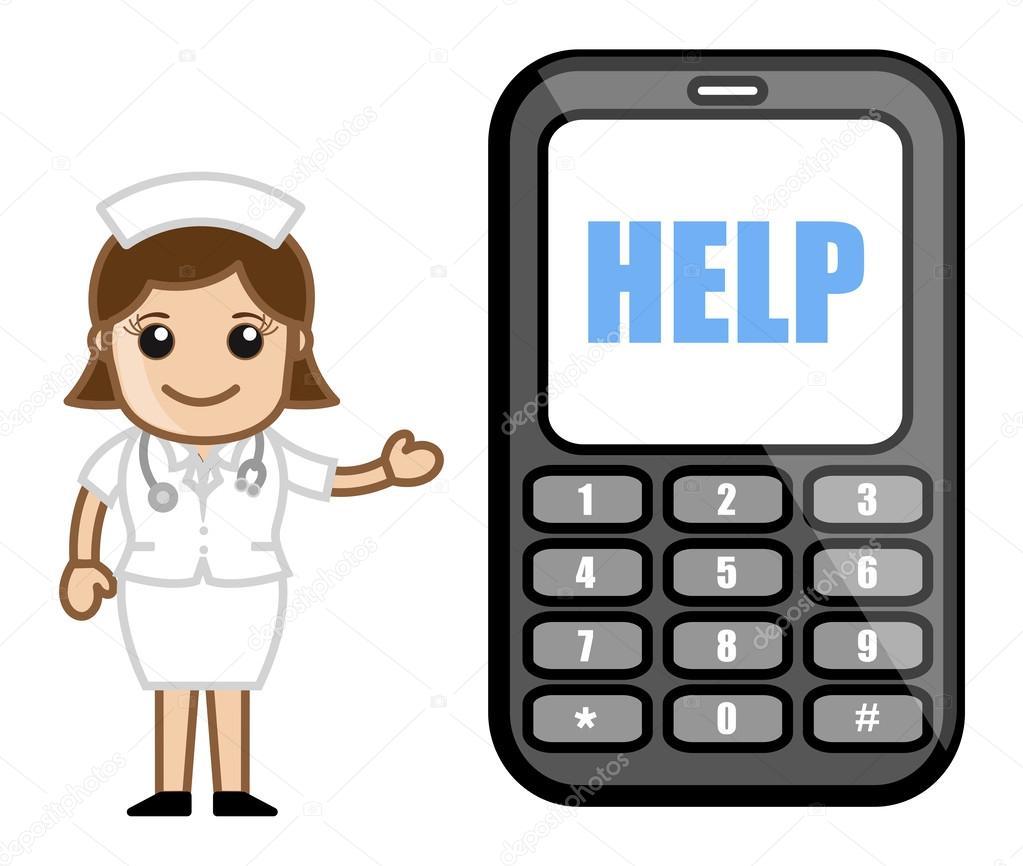 Cartoon Characters Phone Numbers : Helpline phone number medical cartoon vector character