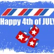 Happy 4th of July Vector — Stock Vector
