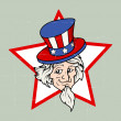 Uncle sam - 4th of July Vector theme Design — Stock Vector