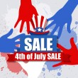 Sale banner - 4th of July Vector theme Design — Stock Vector