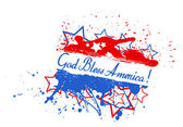 God bless america - 4th of July Vector theme Design — Stock Vector