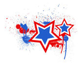 Stars - 4th of July Vector theme Design — Stock Vector