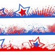 Edges and borders set - Patriotic USA theme Vector — Stock Vector #31364775