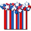 Stars - American themed Independence Day Vector Design background — Stock Vector