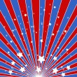 Sunburst background - American themed Independence Day Vector Design — Stock Vector #31362771