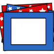Stock Vector: Photo frame - US 4th of July - Independence Day Vector Design