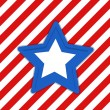 Star - US 4th of July - Independence Day Vector Design — Stock Vector
