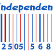 Barcode - US 4th of July - Independence Day Vector Design — Stock Vector