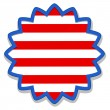 Badge sticker - US 4th of July - Independence Day Vector Design — Stock Vector #31363829