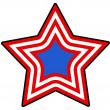Star - Patriotic USA theme Vector — Stock Vector