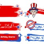 Various USA Nation theme vectors set — Stock Vector #31364487