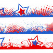 Stock Vector: Edges and borders set - Patriotic UStheme Vector