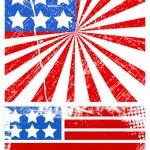 Grunge american flag - Patriotic USA theme Vector — Stock Vector #31365539