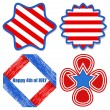 Stock Vector: Decorative elements - Patriotic USA theme Vector