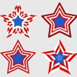 Stars set - Patriotic USA theme Vector — Stock Vector