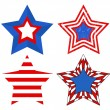 American Flag style - Patriotic USA Stars Vector — Stock Vector #31365599