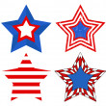 American Flag style - Patriotic USA Stars Vector — Stock Vector #31365599