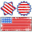Grunge labels - Patriotic USA theme Vector — Stock Vector