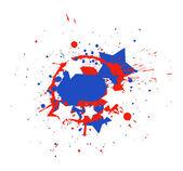 всплеск гранж - тема дизайн вектор день независимости сша — Cтоковый вектор