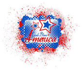 God bless america - USA Independence Day Vector theme Design — Stock Vector