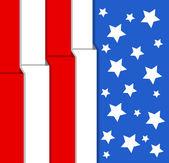 Flag - US 4th of July - Independence Day Vector Design — ストックベクタ