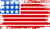 Grunge dirty old flag - US 4th of July - Independence Day Vector Design — Stockvektor