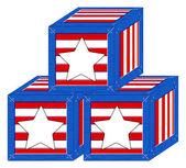 коробка - сша 4 июля - день независимости векторный дизайн — Cтоковый вектор