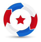 Circle Star - US 4th of July - Independence Day Vector Design — Wektor stockowy