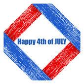 Grunge - US 4th of July - Independence Day Vector Design — ストックベクタ