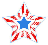 Grunge star - US 4th of July - Independence Day Vector Design — 图库矢量图片