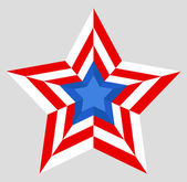 Patriotic star - US 4th of July - Independence Day Vector Design — 图库矢量图片