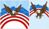 Bald eagle - Patriotic USA theme Vector — Stock Vector
