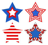 American Flag style - Patriotic USA Stars Vector — Stock Vector