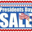 Presidents Day Sale Stamp Style Background — Stock Vector