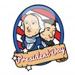 Happy Presidents Day Theme Design — Stock Vector