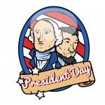 Happy Presidents Day Theme Design — Stock Vector