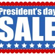 Presidents Day Sale Background — Stock Vector