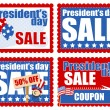 Presidents Day Sale Banner and Coupon Backgrounds Vector — Stock Vector