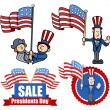 Постер, плакат: Various Clip Art and Design for Presidents Day
