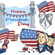 Stock Vector: United States National Holidays - Presidents Day Vector Set