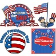 Happy Presidents Day Vector Set — Stock Vector