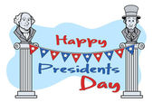 Happy Presidents Day Vector Clipart Cartoon Vector — Stock Vector