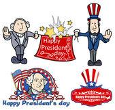 大統領の日のお祝いのベクトルをデザインします。 — ストックベクタ
