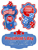 Happy Presidents Day Banners — Stock Vector