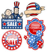 USA Nation - Patriotic Theme Design- Presidents Day Vector Set — Stock Vector
