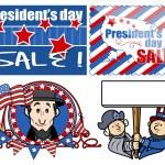 USA Theme Washington Birthday Day Vector Set — Stock Vector #31550251