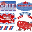 Presidents Day USA Theme Vector Set Illustrations — Stock Vector #31550351