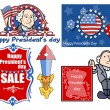 Presidents Day Vector Illustration Set — Stock Vector